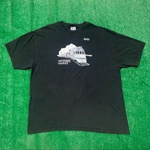 Vintage 90s Flying Yankee 6000 Railroad Car Shirt